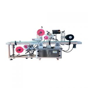 Shampoo Flat Bottles Double Side Automatic Labeling Machine