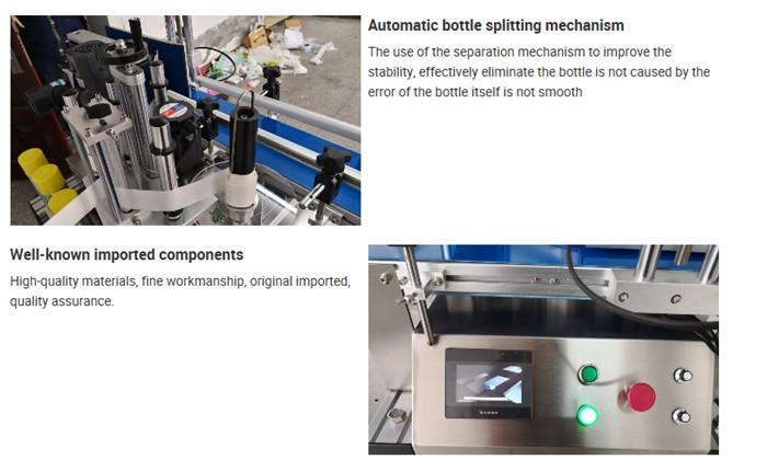 פרטי מכונת תיוג בקבוק שולחן אוטומטית